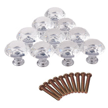 Load image into Gallery viewer, 10pcs Crystal Glass Cabinet Knobs, Wardrobe Pulls Handles-INC-HW14-020