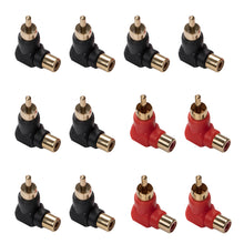 Load image into Gallery viewer, 12 Packs 90 Degree RCA Plug Adaptor-INC-HW18-060