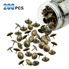 Load image into Gallery viewer, 200 Pcs 5/8-INCh Floral Head Decorative Nails-INC-YF06-126