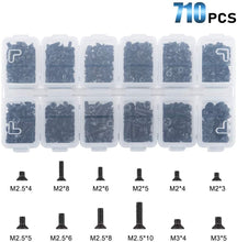 Load image into Gallery viewer, M2 M2.5 M3 KM Flat Head Phillips Screws, Black-INC-HW01-178