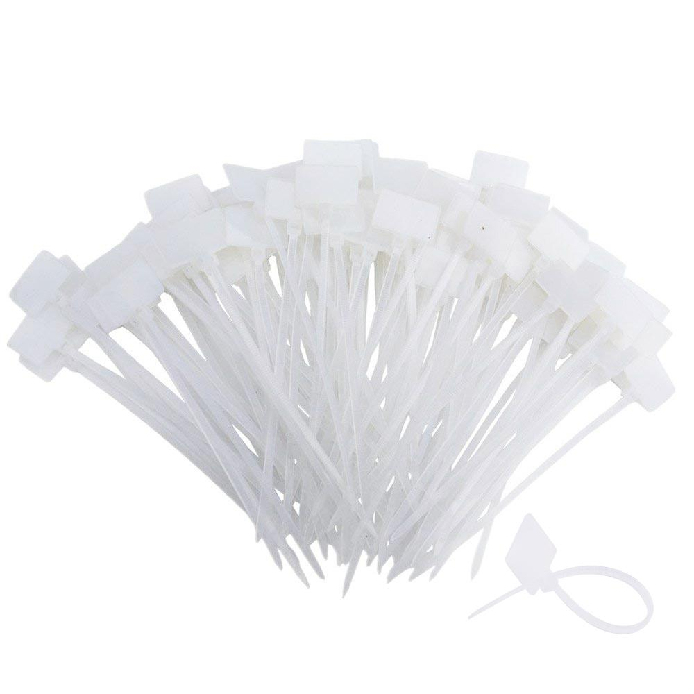 200pcs 4 Inch Nylon Cable Marker Ties-INC-HW11-008