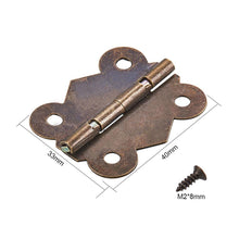 Load image into Gallery viewer, 20 Set Bronze Cabinet Hinges Butterfly Mini Hinges with Replacement Screw-INC-HW14-031
