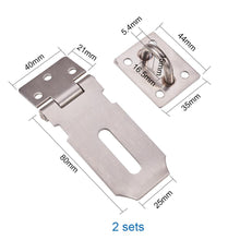 Load image into Gallery viewer, 2 Packs 3-Inch Stainless Steel Safety Padlock Door Latch Lock-INC-HW13-202