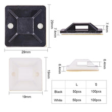 Load image into Gallery viewer, 300 Pieces Adhesive Cable Tie Mounts-INC-HW13-179