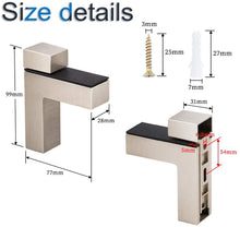 Load image into Gallery viewer, 4 Pack F Shape Glass Clip Clamp Holder Wall Mount for 3mm-28mm Thick Glass-INC-HW06-242-243