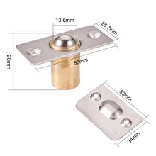 Load image into Gallery viewer, 4 Sets Adjustable Cabinet/Closet/Door Ball Catch/Latch(Stainless Steel+ Copper)-INC-HW13-211