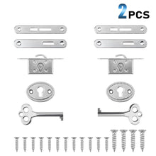 Load image into Gallery viewer, 2 Pack Retro Cabinet Cupboard Jewelry Box Lock Plated Small Door Lock Decorative Antique Locks Replacement with Keys-INC-YF10-047