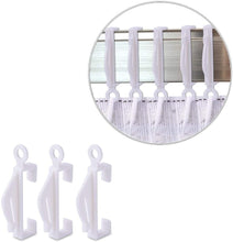 Load image into Gallery viewer, 150 Pcs White Plastic Sliding Hooks for Curtain Decorative Track-INC-HW13-217