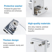 Load image into Gallery viewer, 2 Packs Glass Cabinet Door Lock for 5-8mm Glass-INC-HW10-034