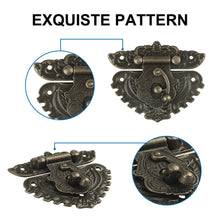 Load image into Gallery viewer, 2Pcs Embossing Decorative Vintage Jewelry Box Handmade Box Suitcase Hasp Latch Buckle Lock-INC-YF13-233