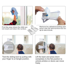 Load image into Gallery viewer, 2 Set White Sliding Door Lock for Child Safety-INC-HW10-022
