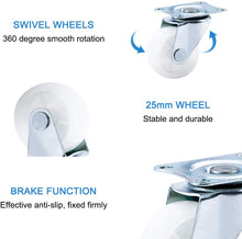Load image into Gallery viewer, 4 PCS 1.5 -INCh Swivel Plate Caster Industrial Wheels-INC-HW18-093