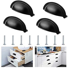 Load image into Gallery viewer, 4 Pack Bin Cup Drawer Handle Pull, 3 Inch(76mm) Hole Centers-INC-HW14-035