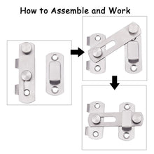 Load image into Gallery viewer, 4 Packs Stainless Steel Safety Door Latches-INC-HW10-027