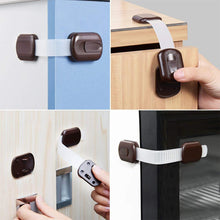 Load image into Gallery viewer, Brown Child Proof Safety Locks for Cabinets,Drawers,Cupboard,Oven,Fridge,Closet-INC-HW10-016