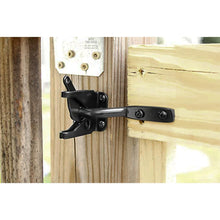 Load image into Gallery viewer, 2 Pack Self Locking Gate Latch Post Mount Automatic Gravity Lever Black Coated Finish-INC-YF13-153