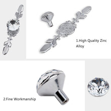 Load image into Gallery viewer, Crystal Glass Diamond Cabinet Knobs for Kitchen Bathroom-INC-YF14-023
