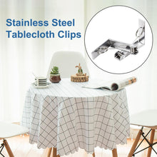 Load image into Gallery viewer, 4 Pack Stainless Steel Silver Tablecloth Clips-INC-YF01-086