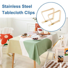 Load image into Gallery viewer, 4 Pack Stainless Steel Tablecloth Clips INC-YF01-083