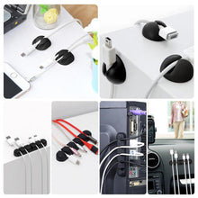 Load image into Gallery viewer, 55 Packs Multipurpose Black Organizer Adhesive Cable Clip-INC-YF13-064