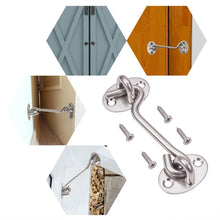 Load image into Gallery viewer, 4 Packs Stainless Steel Cabin Hook Door Latch with Mounting Screws-INC-HW10-023