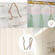 Load image into Gallery viewer, 100pcs Metal Curtain Hooks  Door Curtain and Shower Curtain-INC-HW05-036