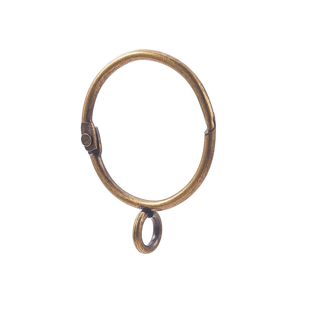 16 Pcs Curtain Rings, Antique Brass-INC-HW05-043