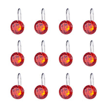 Load image into Gallery viewer, 12pcs Shower Curtain Hooks Red-INC-HW05-079
