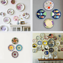 Load image into Gallery viewer, 4 Sizes Wall Plate Hanger Decorative Dish Display Holder&Wall Hooks-INC-HW05-107