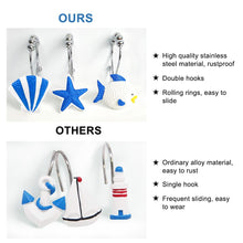 Load image into Gallery viewer, 12 Pcs Shower Curtain Hooks for Bathroom-INC-HW05-135-129