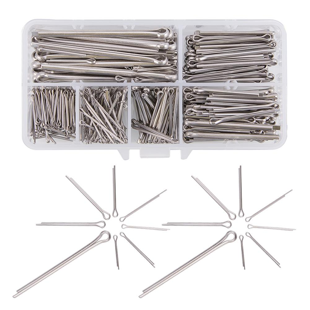 400Pcs Stainless Steel Cotter Pin Assortment Kit-INC-HW06-025