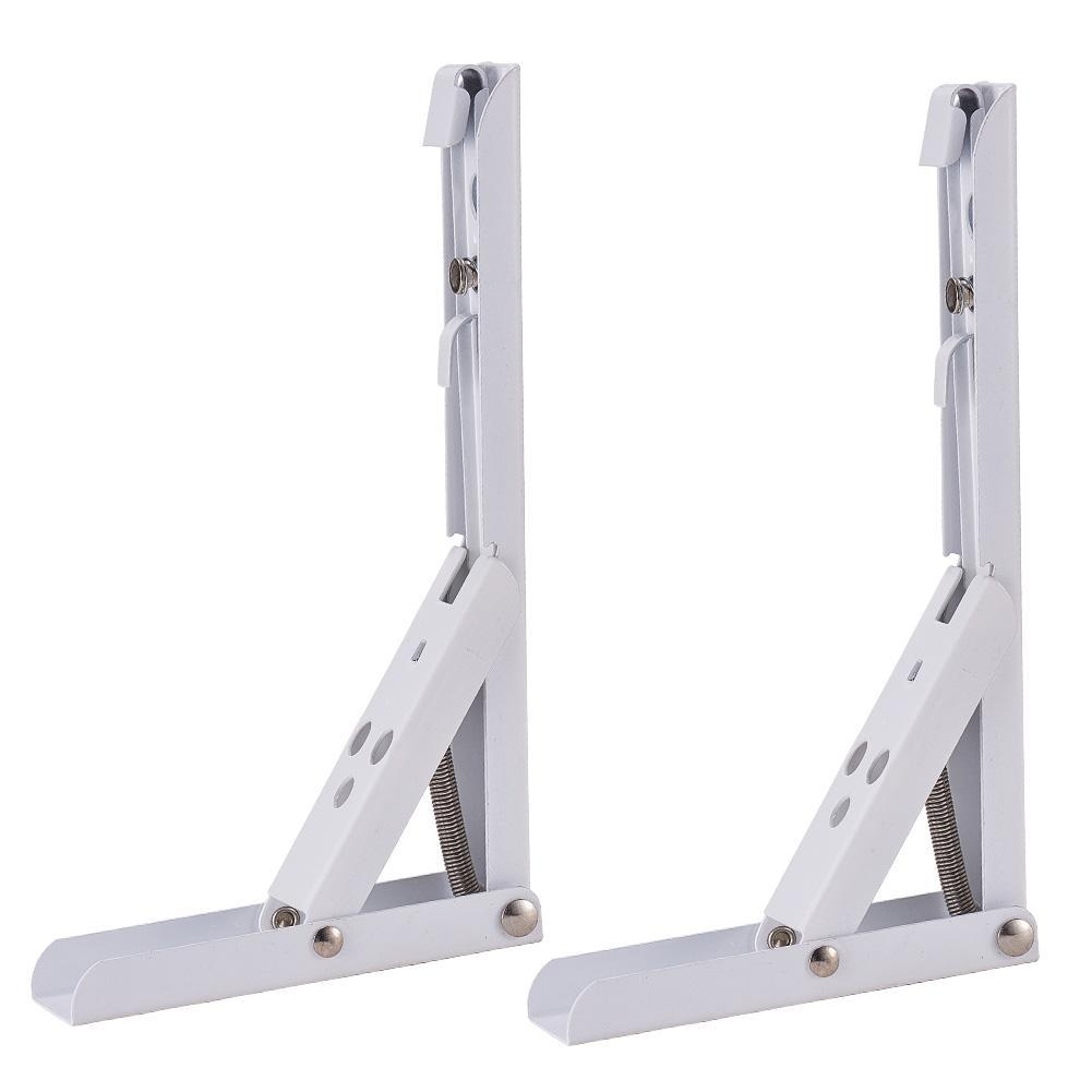 White Right Angle Spring Loaded Folding Support-INC-HW06-066-068
