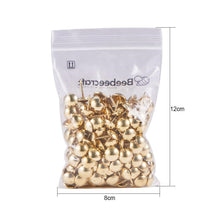 Load image into Gallery viewer, 200pcs Gold Upholstery Tacks Decorative Furniture Nails-INC-HW06-084