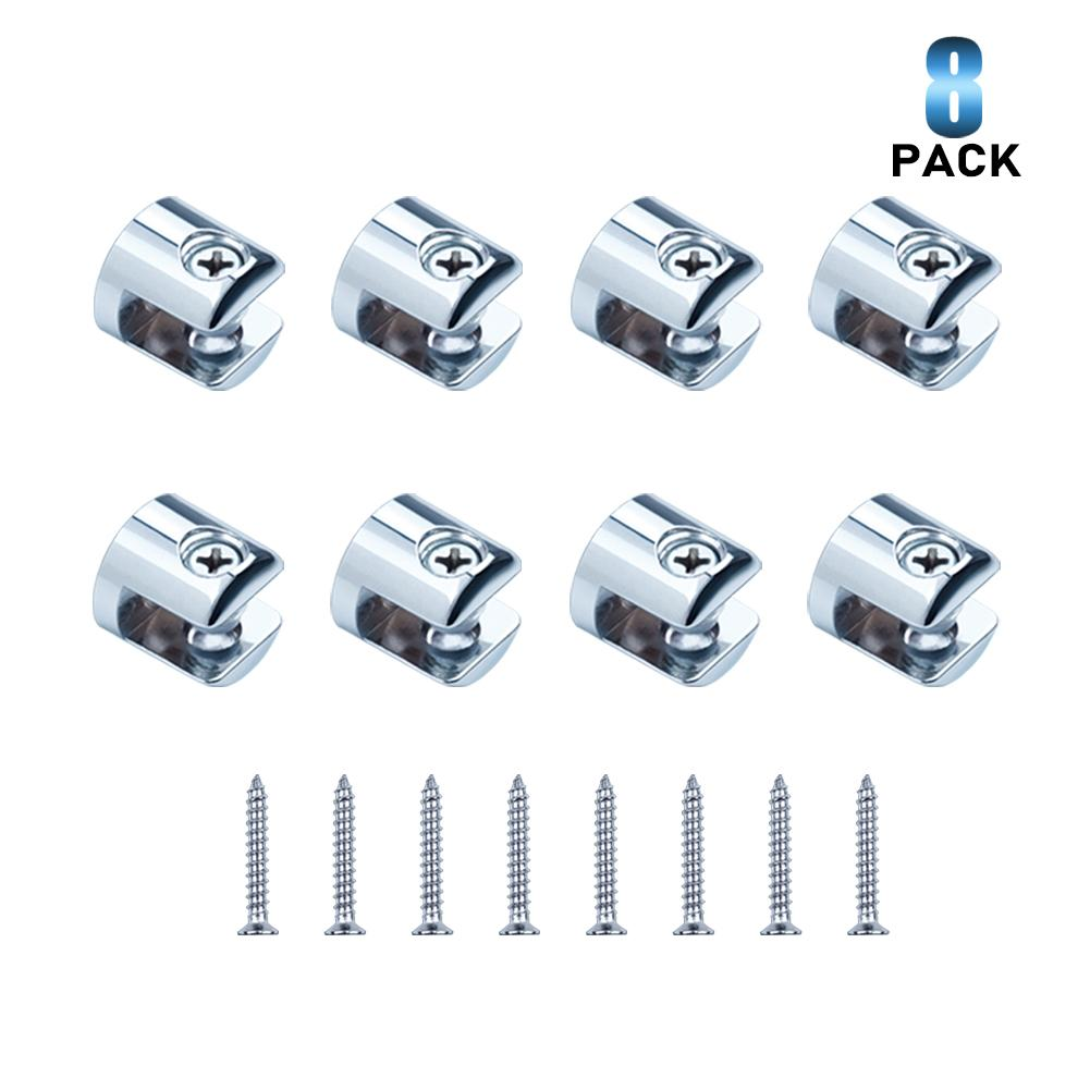 8 Pack Glass Clip Clamp for 6-8mm Thickness Glass-INC-HW06-118