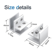 Load image into Gallery viewer, 4 Pack Glass Clamp 90 Degrees for 10-12mm Thickness-INC-HW06-228