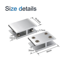 Load image into Gallery viewer, 4 Pack 180 Degrees Adjustable Double Side Aluminum Alloy Glass Shelf Support Bracket-INC-HW06-229