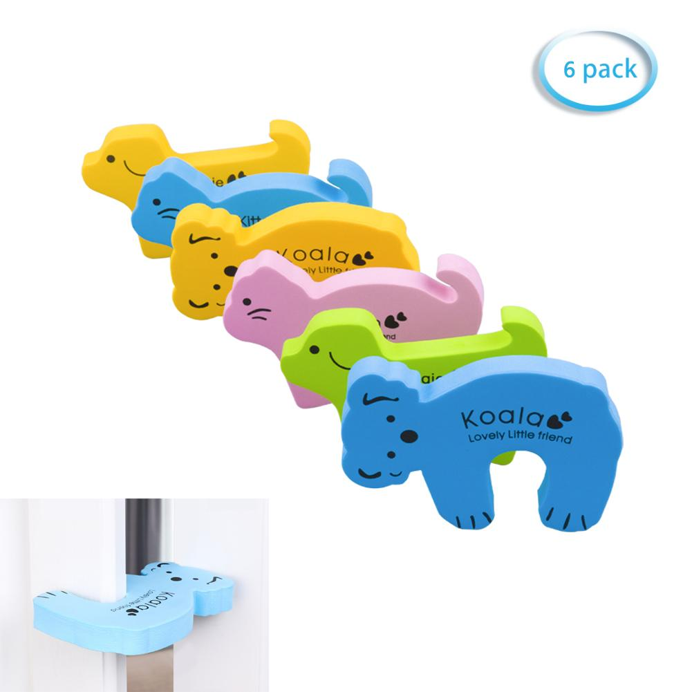 6 Pack Different Cartoon Animal Finger Pinch Guard Baby Proof Doors-INC-HW07-003