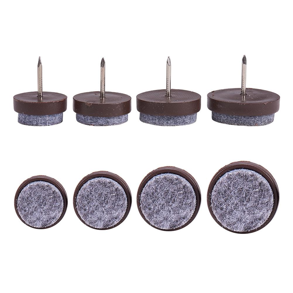 80pcs 20/22/24/28mm Brown Nail-on Anti-Sliding Felt Pad-INC-HW07-012