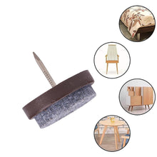 Load image into Gallery viewer, 80pcs 20/22/24/28mm Brown Nail-on Anti-Sliding Felt Pad-INC-HW07-012