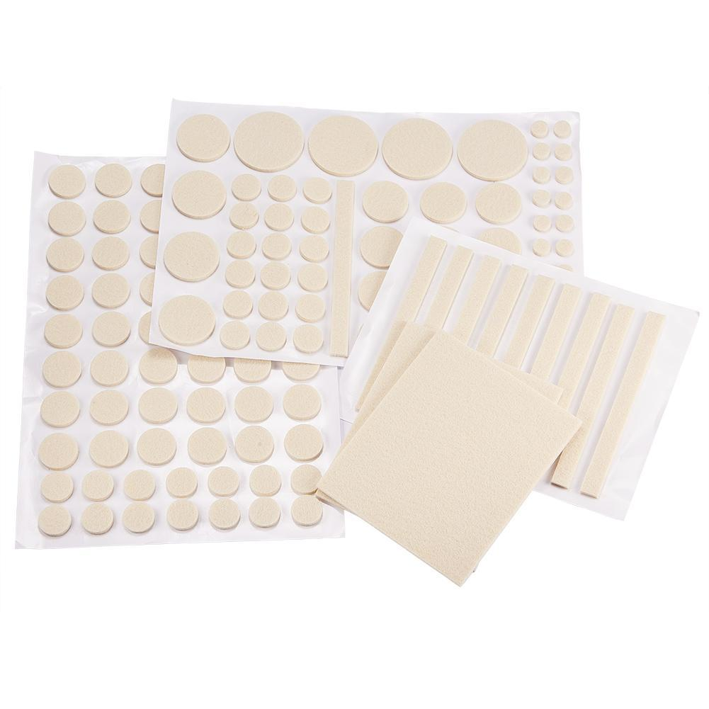 132pcs Self-Stick Furniture Felt Pads Anti-Skid Furniture Pad Grippers-INC-HW07-013-014
