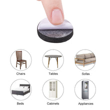Load image into Gallery viewer, 100pcs Black Self-Stick Furniture Round Felt Pads Anti-Skid Furniture Pad Grippers-INC-HW07-089
