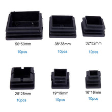 Load image into Gallery viewer, 6 Sizes 60pcs Square Plastic Plug Pads-INC-HW07-092