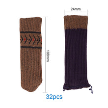 Load image into Gallery viewer, 32 Pcs Knitted Elastic Thicker Chair Leg Socks (Coffee)-INC-HW07-098