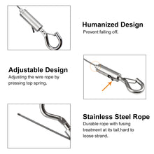 Load image into Gallery viewer, 2pcs 2.5m Stainless Steel Hanging Rope with Hook Heavy-INC-YF05-084-US8