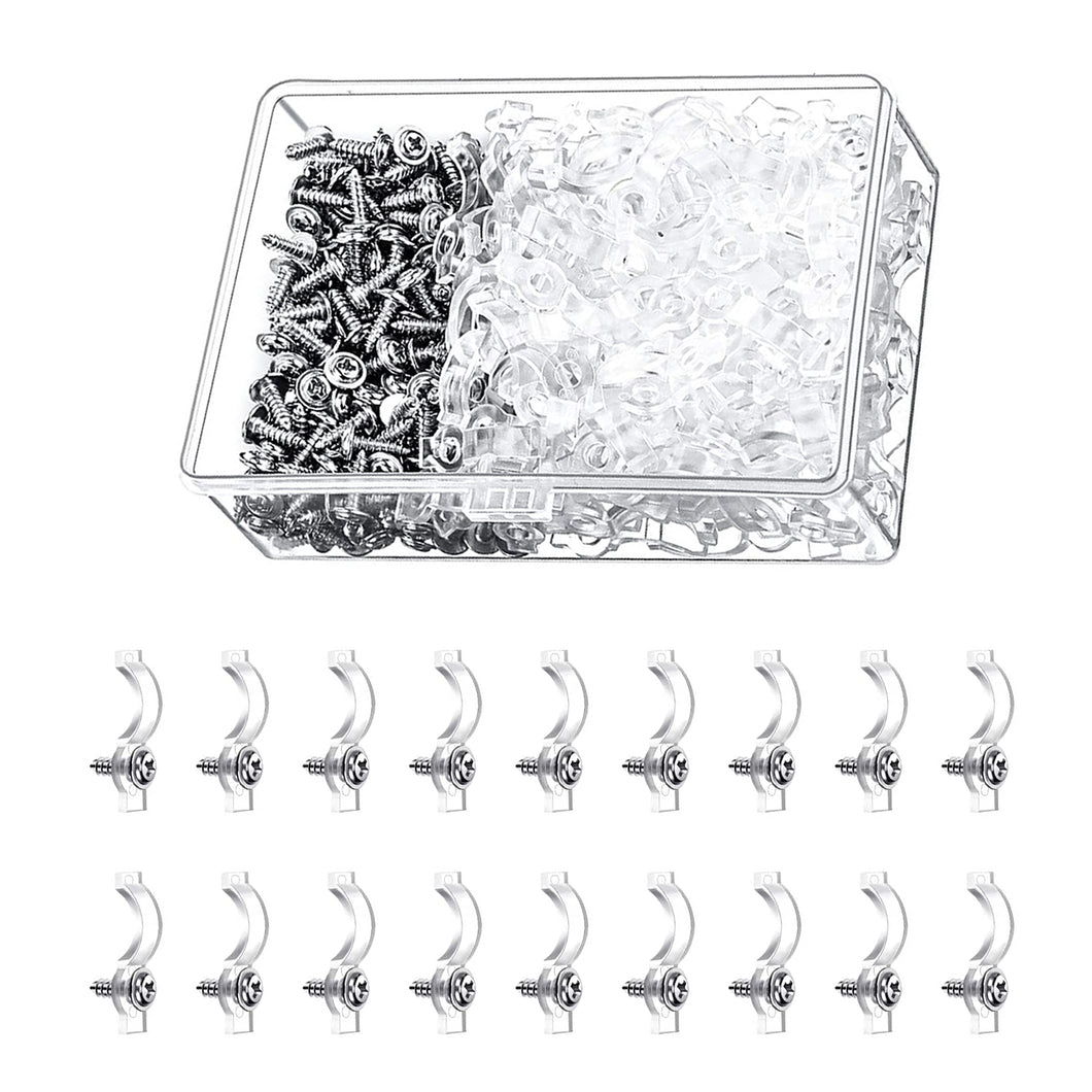 300pcs Transparent LED Strip Fixed Clips for 8mm Lamp Belt-INC-YF05-199