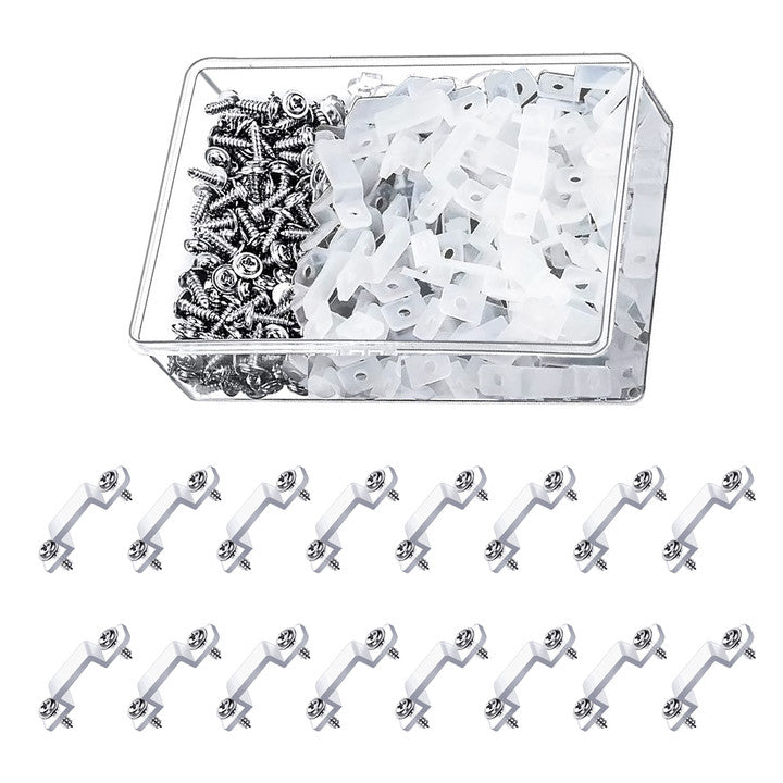 200pcs Transparent LED Strip Light Fastener Silicon Clips for 10mm Lamp width-INC-YF05-202