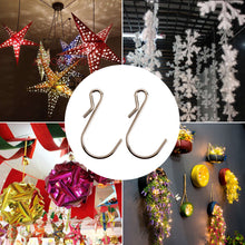 Load image into Gallery viewer, 50pcs 1.8inch Sturdy S-Shaped Metal Hooks for Christmas Decorations-INC-YF05-215