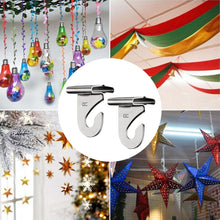 Load image into Gallery viewer, 20 Pcs Silver T-Bar Drop Ceiling Hooks for Hanging Decorations-INC-YF05-216