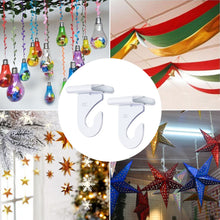 Load image into Gallery viewer, 20 Pcs White T-Bar Drop Ceiling Hooks for Hanging Decorations-INC-YF05-217