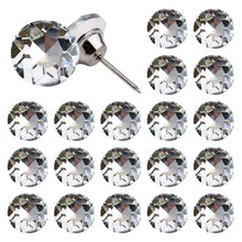 Load image into Gallery viewer, 50PCS 25MM Clear Diamond Sparkly Decorative Buttons-INC-YF06-153-US8